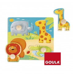 Puzle Animales Selva (22x22)