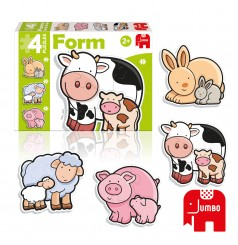 Form Baby Vache - 4 Puzzles