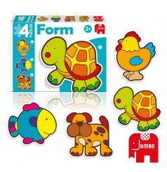 Baby Form Tortue - 4 Puzzles